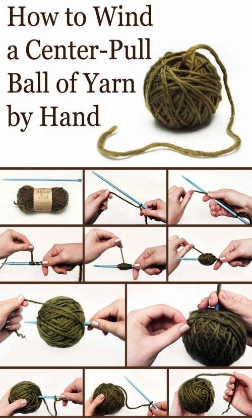 tutorial, pelote de laine